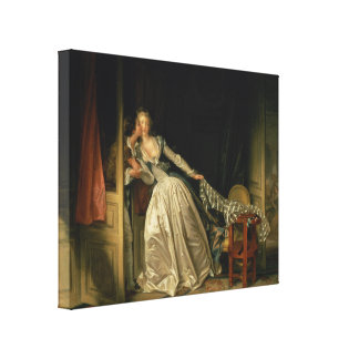 The Stolen Kiss by Jean-Honore Fragonard Canvas Print