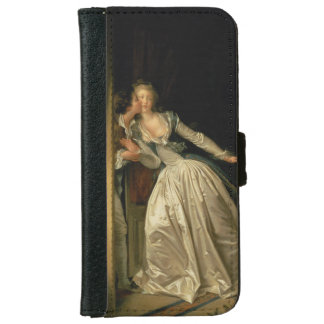 The Stolen Kiss by Jean-Honore Fragonard iPhone 6 Wallet Case