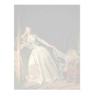 The Stolen Kiss by Jean-Honore Fragonard Letterhead