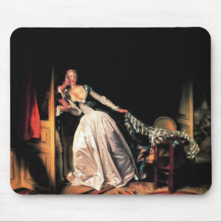 The Stolen Kiss by Jean-Honore Fragonard Mouse Pad