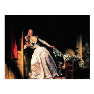 The Stolen Kiss by Jean-Honore Fragonard Postcard