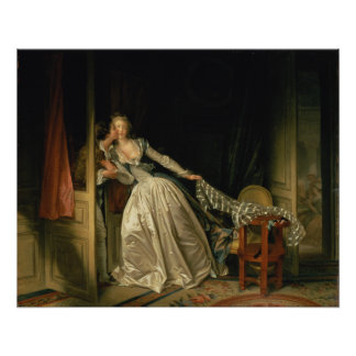 The Stolen Kiss by Jean-Honore Fragonard Poster