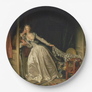 The Stolen Kiss by Jean-Honore Fragonard 9 Inch Paper Plate