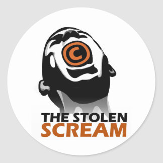 The Stolen Scream Classic Round Sticker
