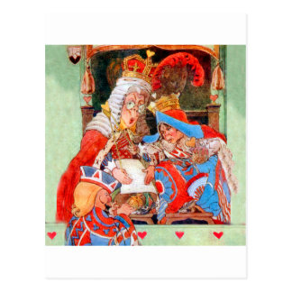 The Stolen Tarts Trial of The Knave of Hearts Postcard