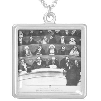 The Stomach of the Legislature Silver Plated Necklace