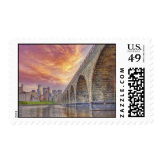 The Stone Arch Bridge Postage Stamp
