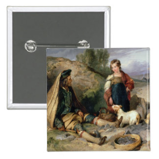 The Stone Breaker and his Daughter, 1830 Button
