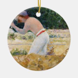The Stone Breaker, c.1882 (oil on panel) Ceramic Ornament