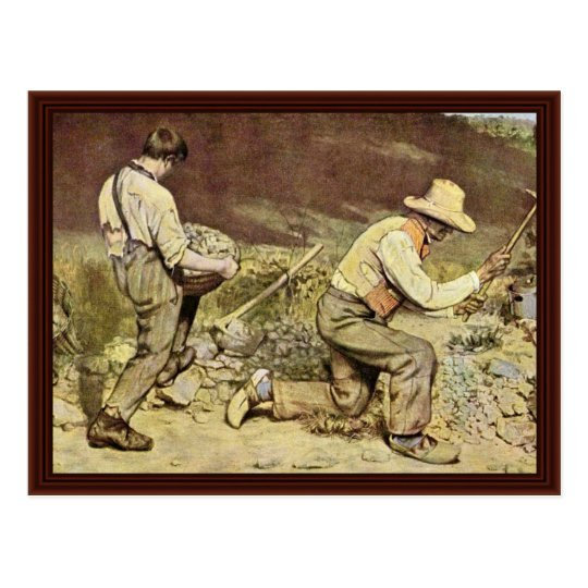 The Stone Breakers By Courbet Gustave Postcard