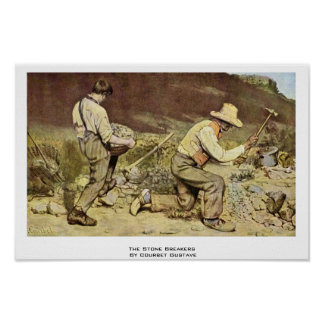 The Stone Breakers By Courbet Gustave Posters