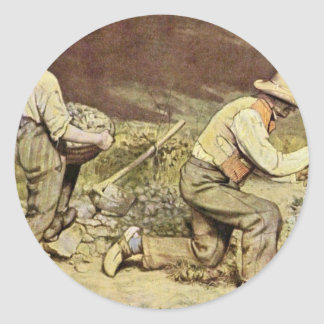 The Stone Breakers By Courbet Gustave Sticker