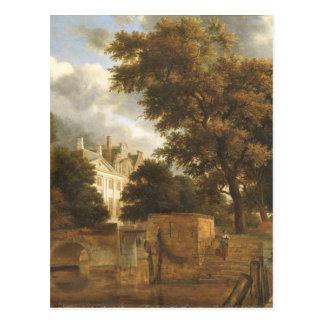 The stone bridge by Adriaen van de Velde Postcard