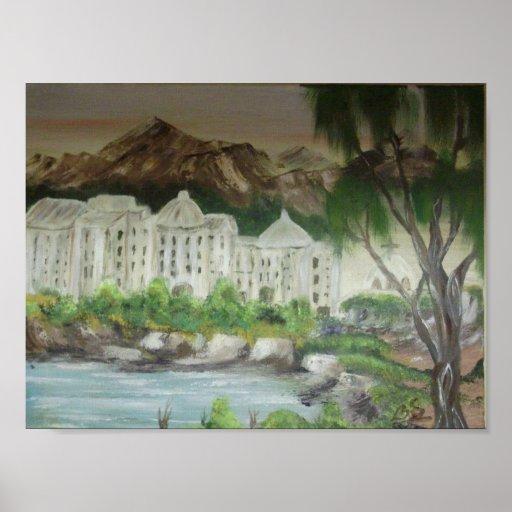 The Stone City - On Canvas Print  Original Work
