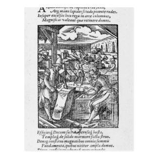 The stone-cutter postcard