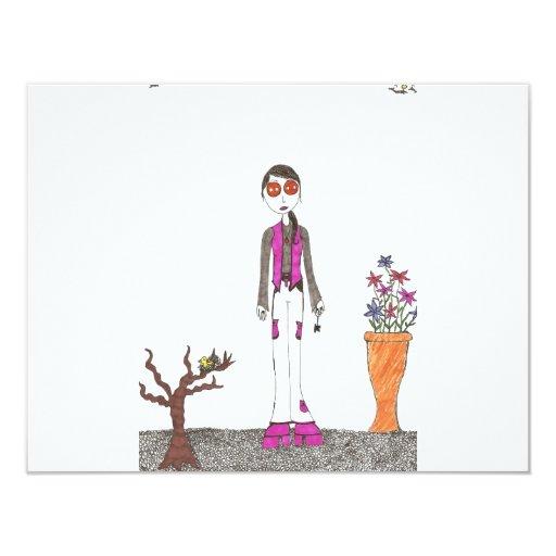 The stone garden 4.25x5.5 paper invitation card