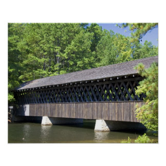 The Stone Mountain Covered Bridge at Stone Poster