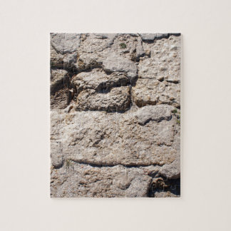 The stones from the limestone on the beach jigsaw puzzle