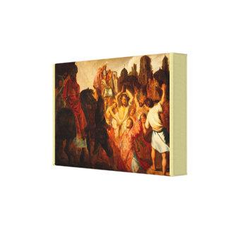The Stoning of Saint Stephen by Rembrandt van Rijn Canvas Print