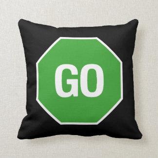 The Stop Go Pillow! Throw Pillow