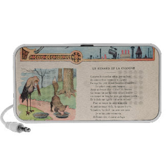 The Stork and the Fox from the Fables Portable Speaker