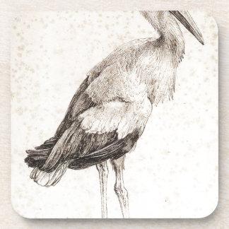 The Stork by Albrecht Durer Drink Coaster