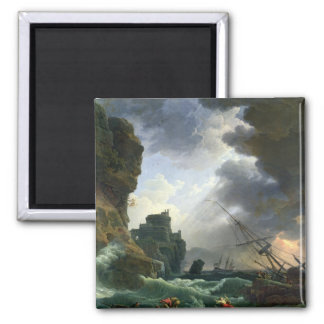 The Storm, 1777 2 Inch Square Magnet