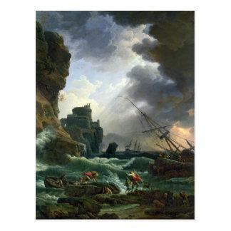 The Storm, 1777 Postcard