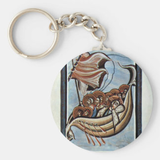 The Storm At Sea By Meister Des Hitda-Evangeliars Key Chains