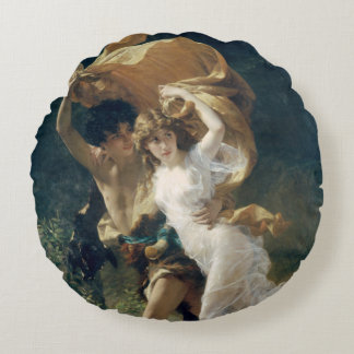 The Storm by Pierre Auguste Cot Round Pillow