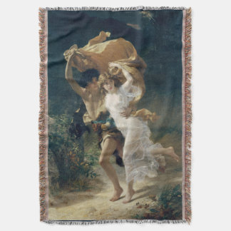The Storm by Pierre Auguste Cot Throw Blanket