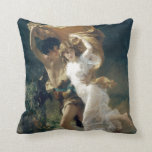 The Storm by Pierre Auguste Cot Throw Pillows