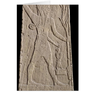 The storm-god Baal with a thunderbolt Greeting Cards