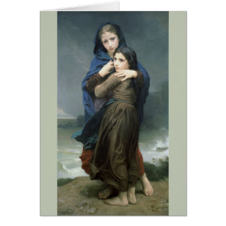 The Storm (L'Orage) by Bouguereau Greeting Card