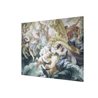 The Storm Miraculously Calmed on Contact with the Canvas Print