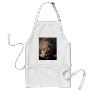The-Storm-on-the-Sea-of-Galilee-by-Rembrandt-van-R Adult Apron