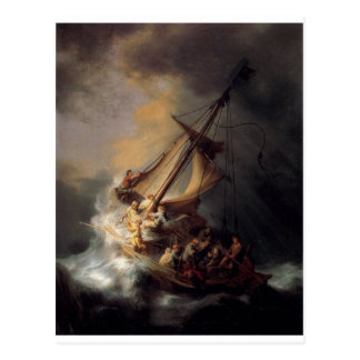 The-Storm-on-the-Sea-of-Galilee-by-Rembrandt-van-R Postcard