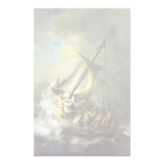 The Storm On The Sea Of Galilee. By Rembrandt Van Stationery