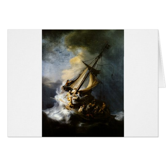 The Storm on the Sea of Galilee Card