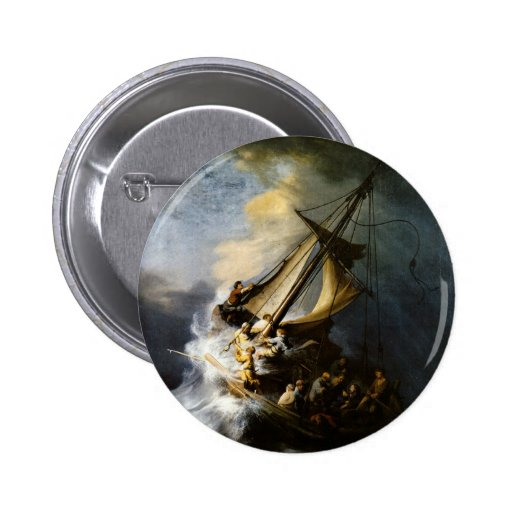 The Storm on the Sea of Galilee Pinback Buttons