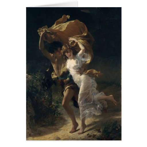The Storm - Pierre-Auguste Cot Greeting Cards