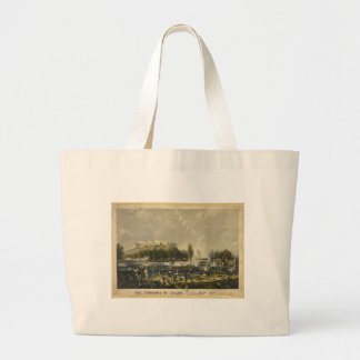 The Storming of Chapultepec Mexican American War Jumbo Tote Bag
