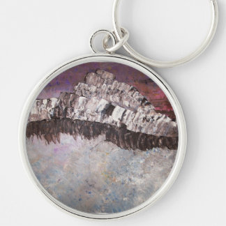 The Stormy Night Silver-Colored Round Keychain