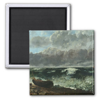 The Stormy Sea or, The Wave, 1870 2 Inch Square Magnet