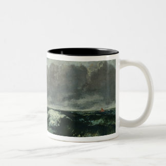 The Stormy Sea or, The Wave, 1870 Two-Tone Coffee Mug