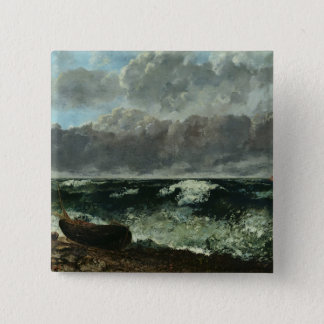 The Stormy Sea or, The Wave, 1870 Pinback Button