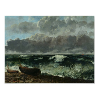 The Stormy Sea or, The Wave, 1870 Poster