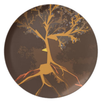 The Stormy Tree - Melamine Plate