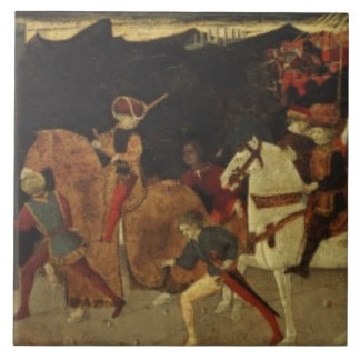 The Story of Alatiel, on Horseback and at a Banque Ceramic Tile
