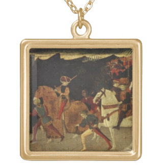The Story of Alatiel, on Horseback and at a Banque Gold Plated Necklace
